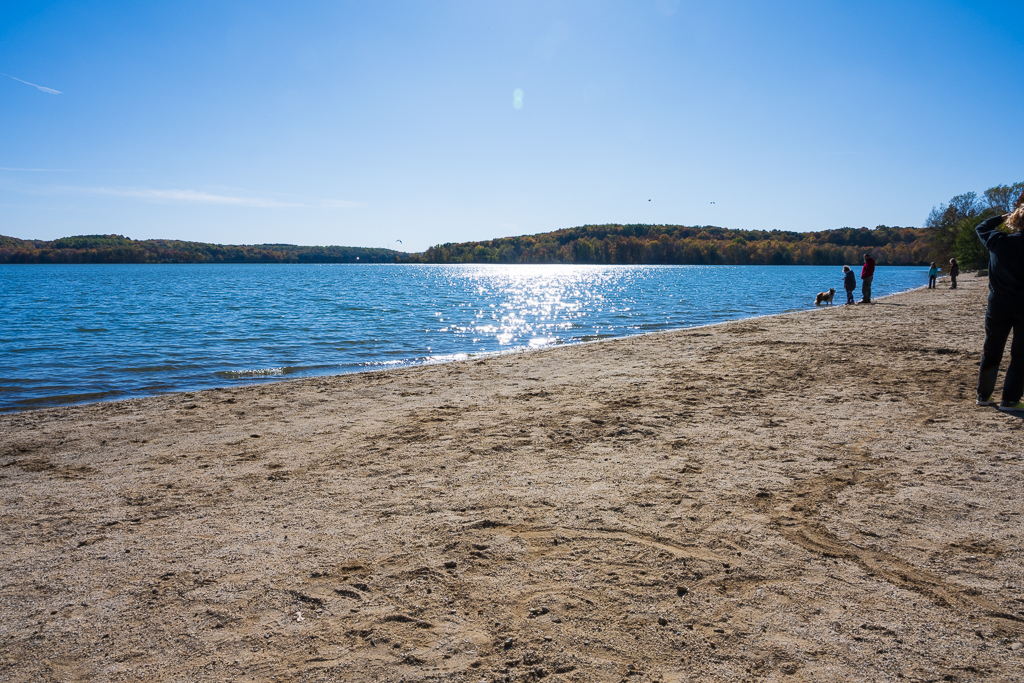 Swimming at Moraine State Park