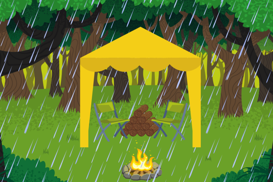 how to have a campfire in the rain