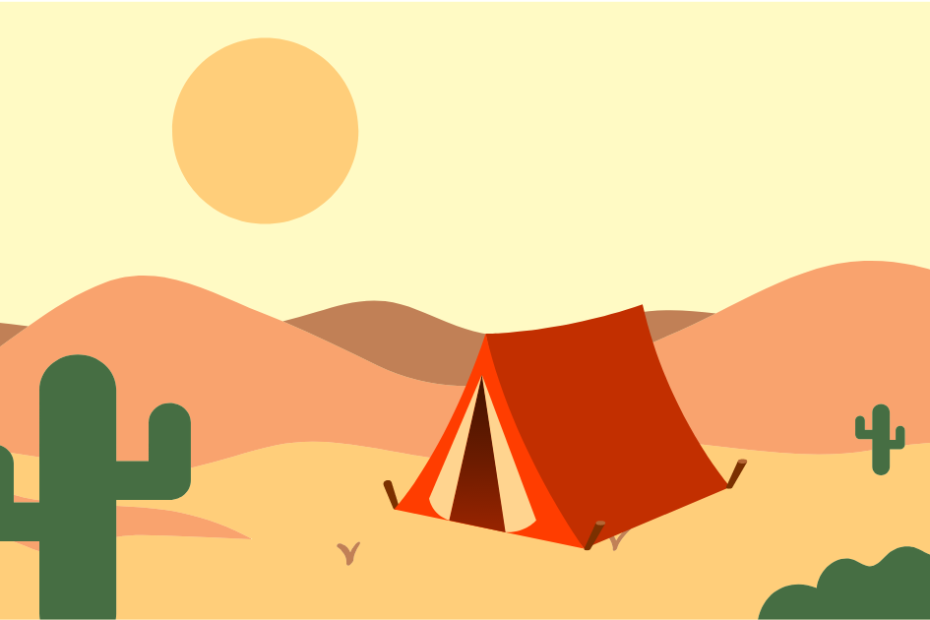 how to camp in the desert