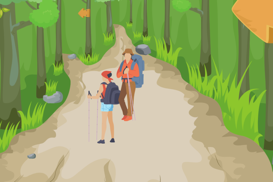 how to make a trail in the woods