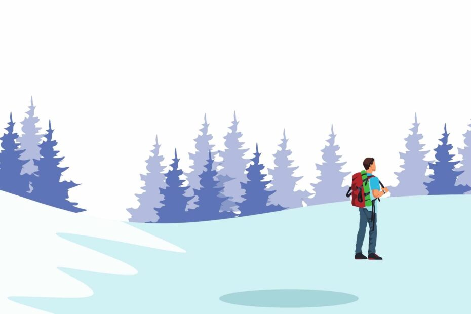 How to hike in the snow